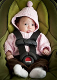 Baby in car seat. Baby girl in car seat Royalty Free Stock Image