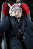 Baby in car seat Royalty Free Stock Photos