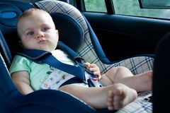 Baby in a car seat Royalty Free Stock Photos