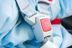 Baby car seat belt Stock Photo