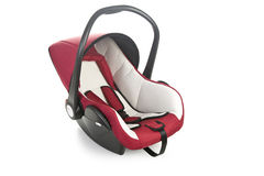 Baby car seat isolated on white Stock Photo