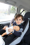 Baby in car seat for safety Stock Photo