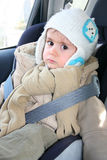 Baby in car seat for safety Stock Image