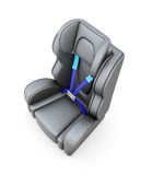Baby car seat  on a white background. 3d render image Stock Image