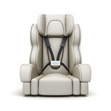 Baby car seat on white background. 3d rendering Royalty Free Stock Images