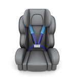 Baby car seat  on a white background. View of front. 3d Royalty Free Stock Image