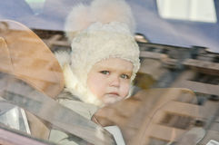 Baby in the car Stock Photography