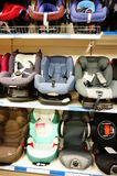 Baby car seats Royalty Free Stock Images