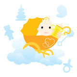 Baby card Royalty Free Stock Photography