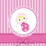Baby card. Designs for birthday card newborn and others Royalty Free Stock Photo
