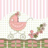 Baby card. Baby girl banner. Baby card Stock Photography