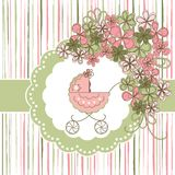 Baby card. Baby girl banner. Baby card Royalty Free Stock Image