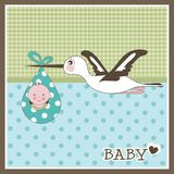 Baby card Royalty Free Stock Image