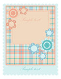 Baby card. Pink and blue baby card template Royalty Free Stock Photography