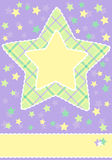Baby card shower Royalty Free Stock Photography