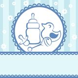 Baby card. Baby arrival announcement card Stock Images