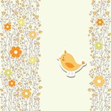 Baby card with bird vector Royalty Free Stock Photography