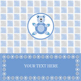 Baby card with blue bear Stock Image