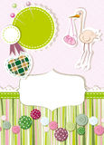 Baby card with buttons Stock Photos