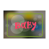 Baby card or cover.Blur background vector for scrapbooking, congratulations, baby shower invitations, birthday cards and. Journaling.lettering hand drawn vector illustration