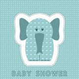 Baby card with cute elephant Royalty Free Stock Image