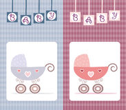 Baby card design Stock Images