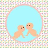 Baby card design. Lovely and pretty baby card design stock illustration