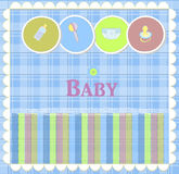 Baby card designs for birthday card newborn and ot Royalty Free Stock Photos