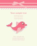 Baby card with dolphin toy vector Stock Photos