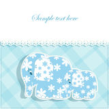 Baby card with elephants Stock Photography