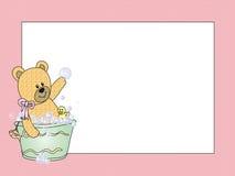 Baby card girl Royalty Free Stock Photos