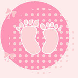 Baby Card for girls Stock Image