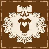 Baby card. Baby  grafic  card  , vector illustration Royalty Free Stock Photography