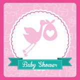Baby card Royalty Free Stock Photo