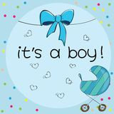 Baby Card - Its A Boy Theme Stock Photos