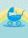 Baby card - Its a boy Royalty Free Stock Photography