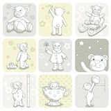 Baby card set Royalty Free Stock Photography