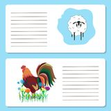 Baby cards with cute and sheep animals, greeting cards or I. Nvitation cards, vector illustration stock illustration
