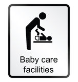 Baby Care Facilities Information Sign Royalty Free Stock Photography