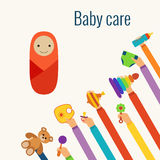 Baby care flat concept Stock Images