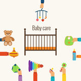 Baby care flat concept Stock Photo