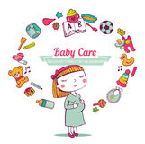 Baby Care frame Royalty Free Stock Image