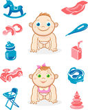 Baby Care Illustration Stock Photography