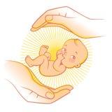Baby care logo Stock Photos