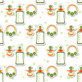 Baby care seamless pattern Stock Images