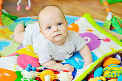 Baby on the carpet Royalty Free Stock Photography