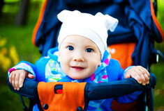 Baby in the carriage Stock Photography