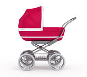 Baby Carriage. On white background Royalty Free Stock Photo