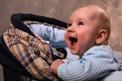The baby in a carriage Stock Photo