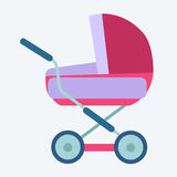 Baby carriage. Childhood and motherhood icon symbol icon vector illustration